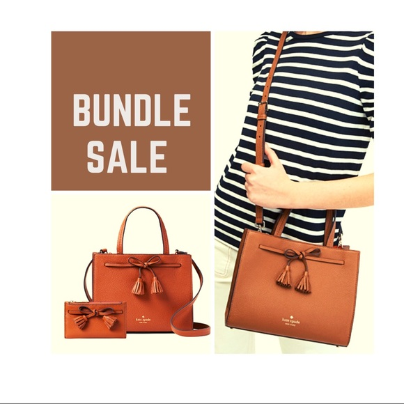kate spade Handbags - Kate Spade bundle set gingerbread color bags💕